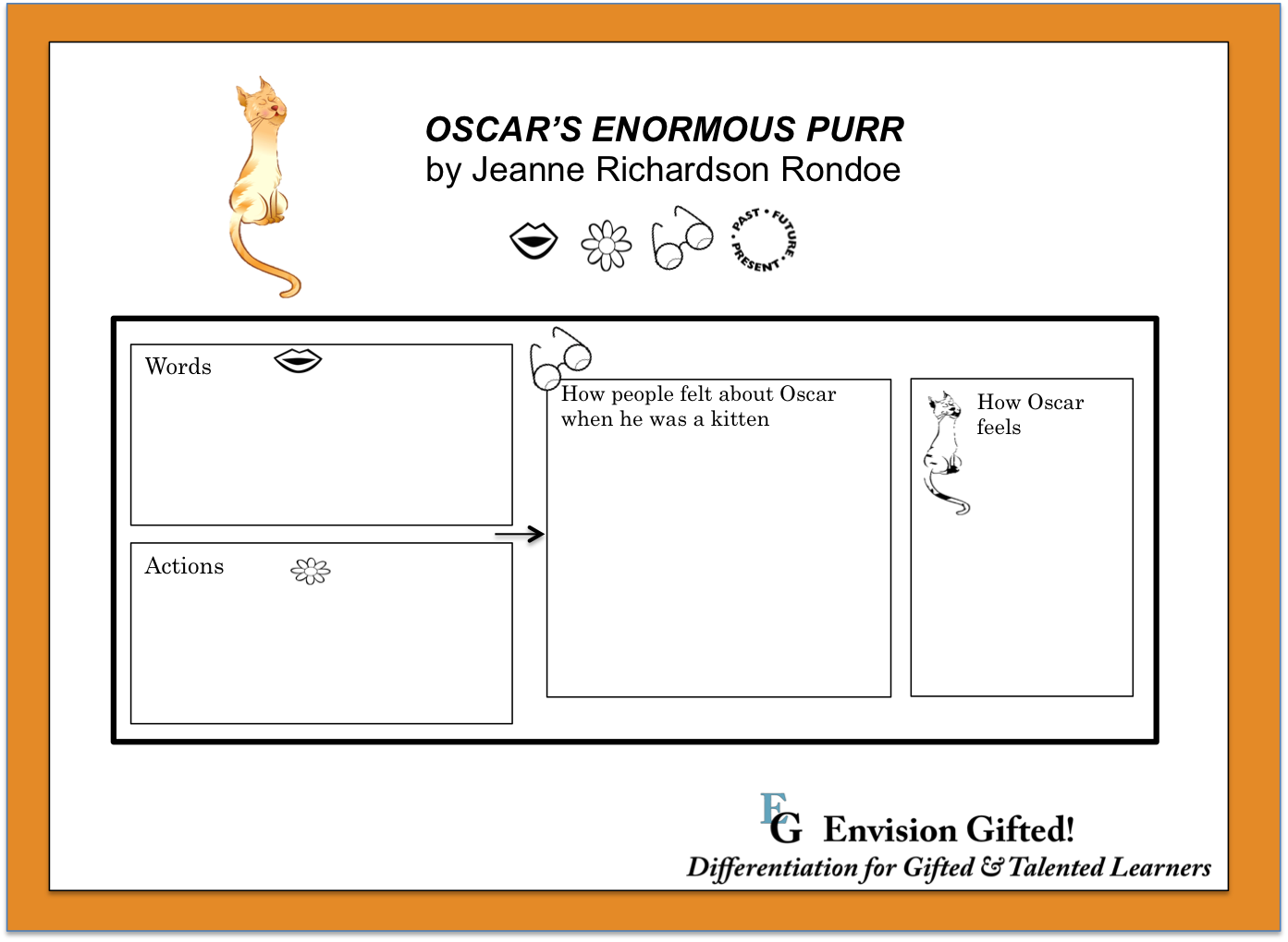 Envision Gifted. Image of template for Oscar's Enormous Purr