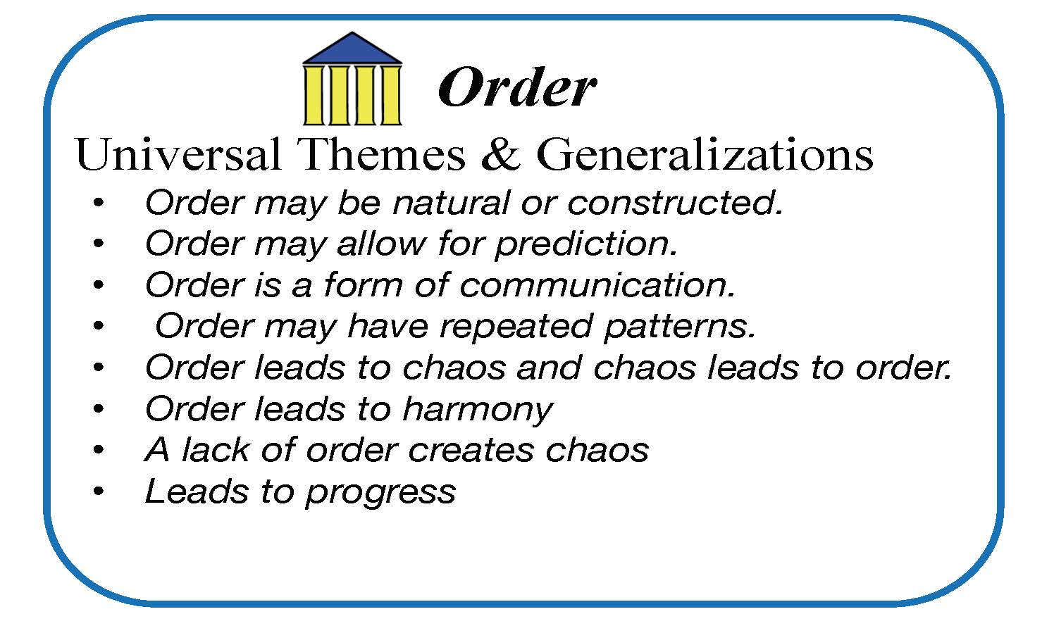 Envision Gifted. Universal Theme Order