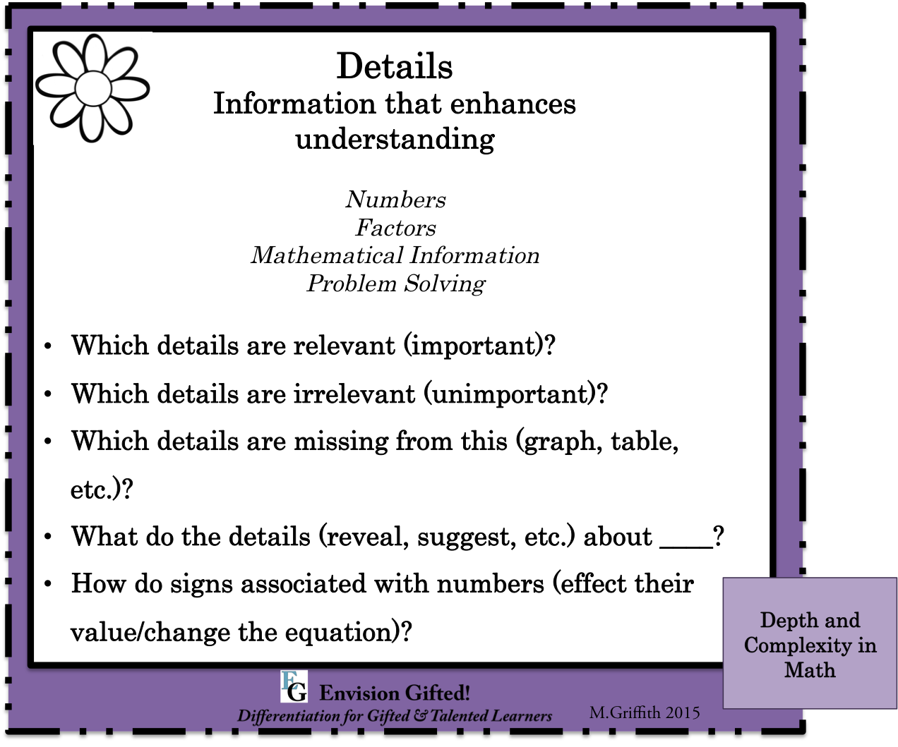 Depth and Complexity in Math - Envision Gifted