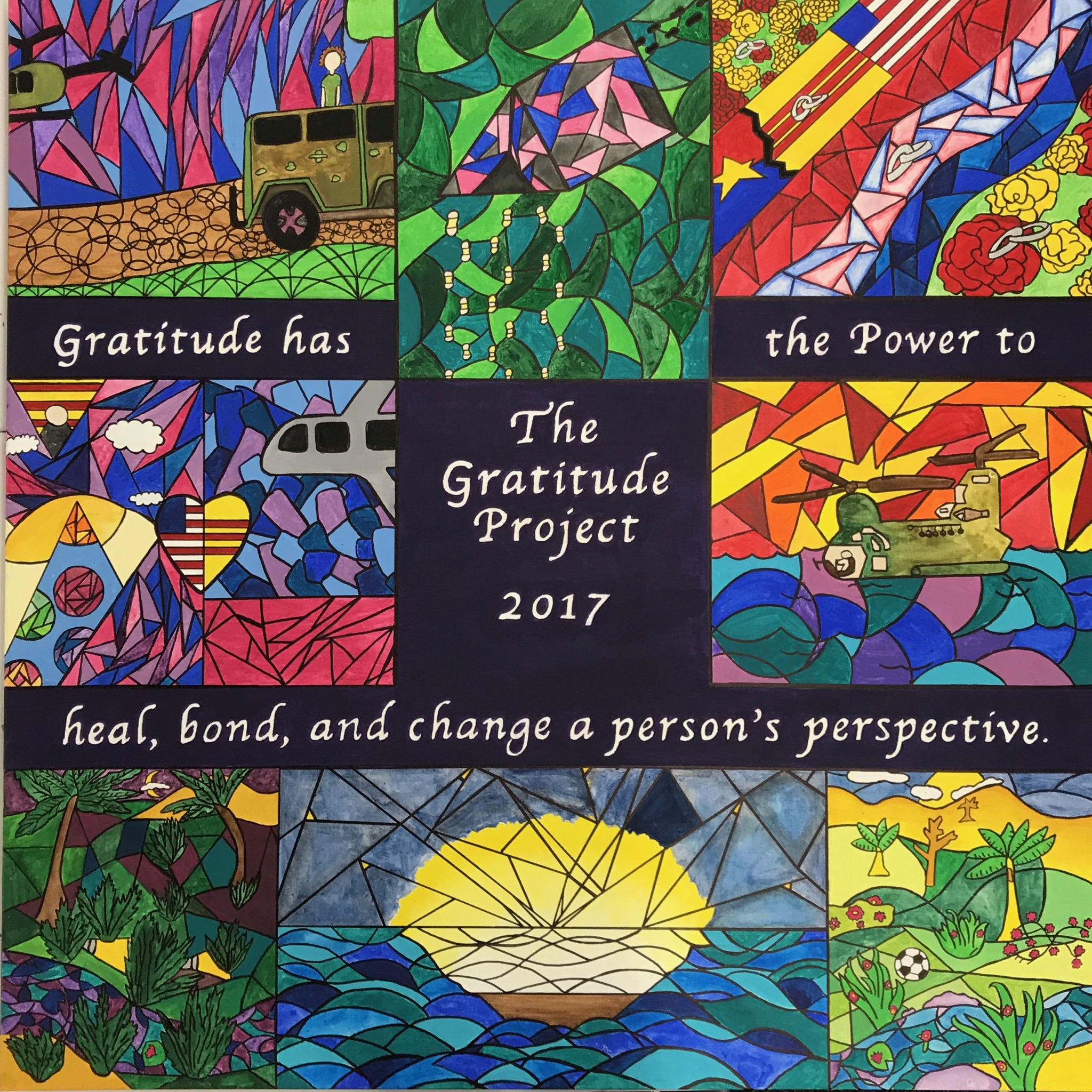 Students explored the universal theme of power and overlapped it with the idea of gratitude to explore the power of gratitude in the aftermath of life's greatest challenges.
