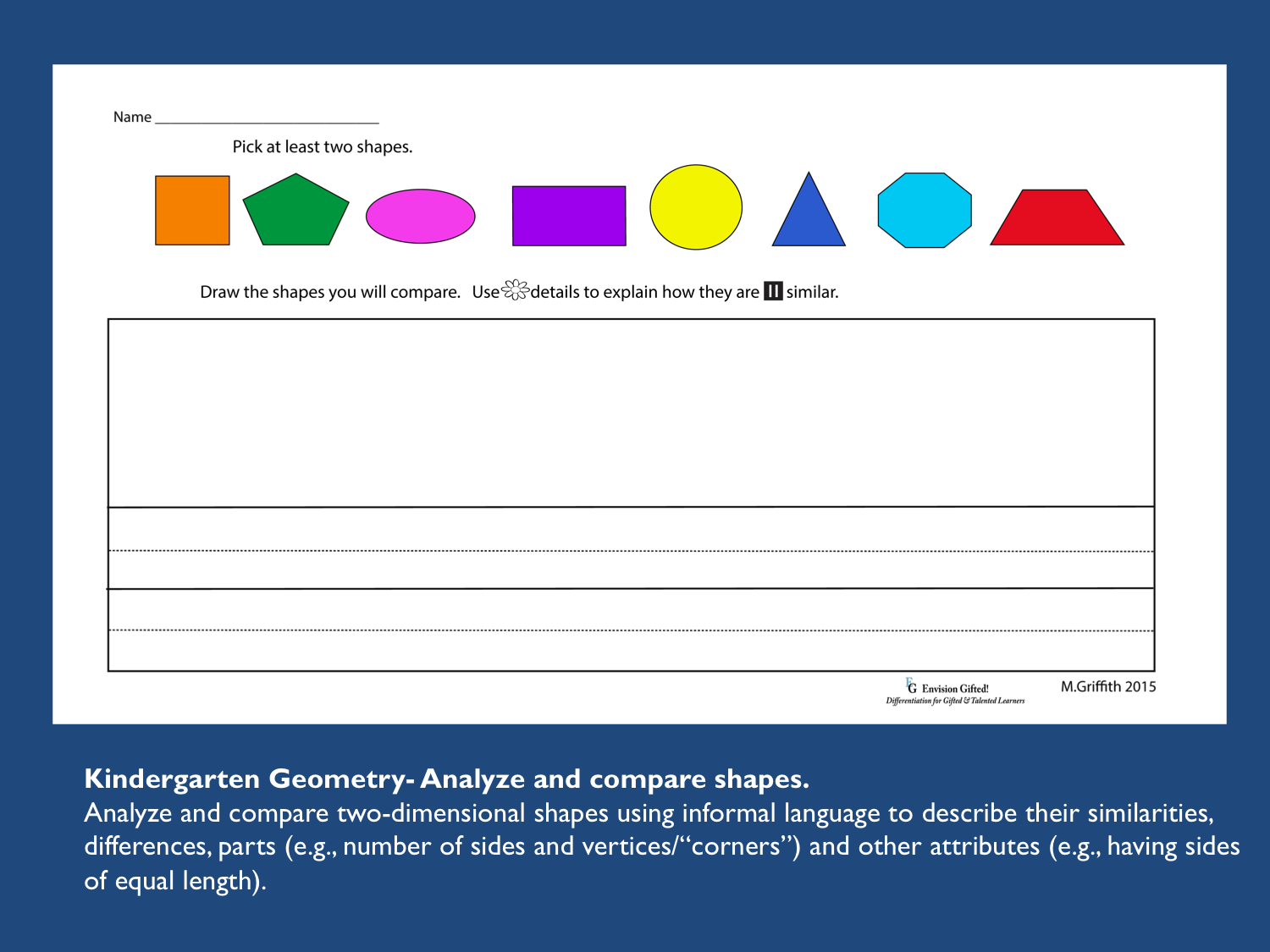 Image shows Primary Differentiated Shapes