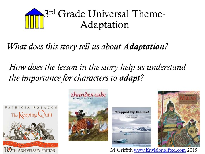 Envision Gifted. Universal Theme Adaptation Questions