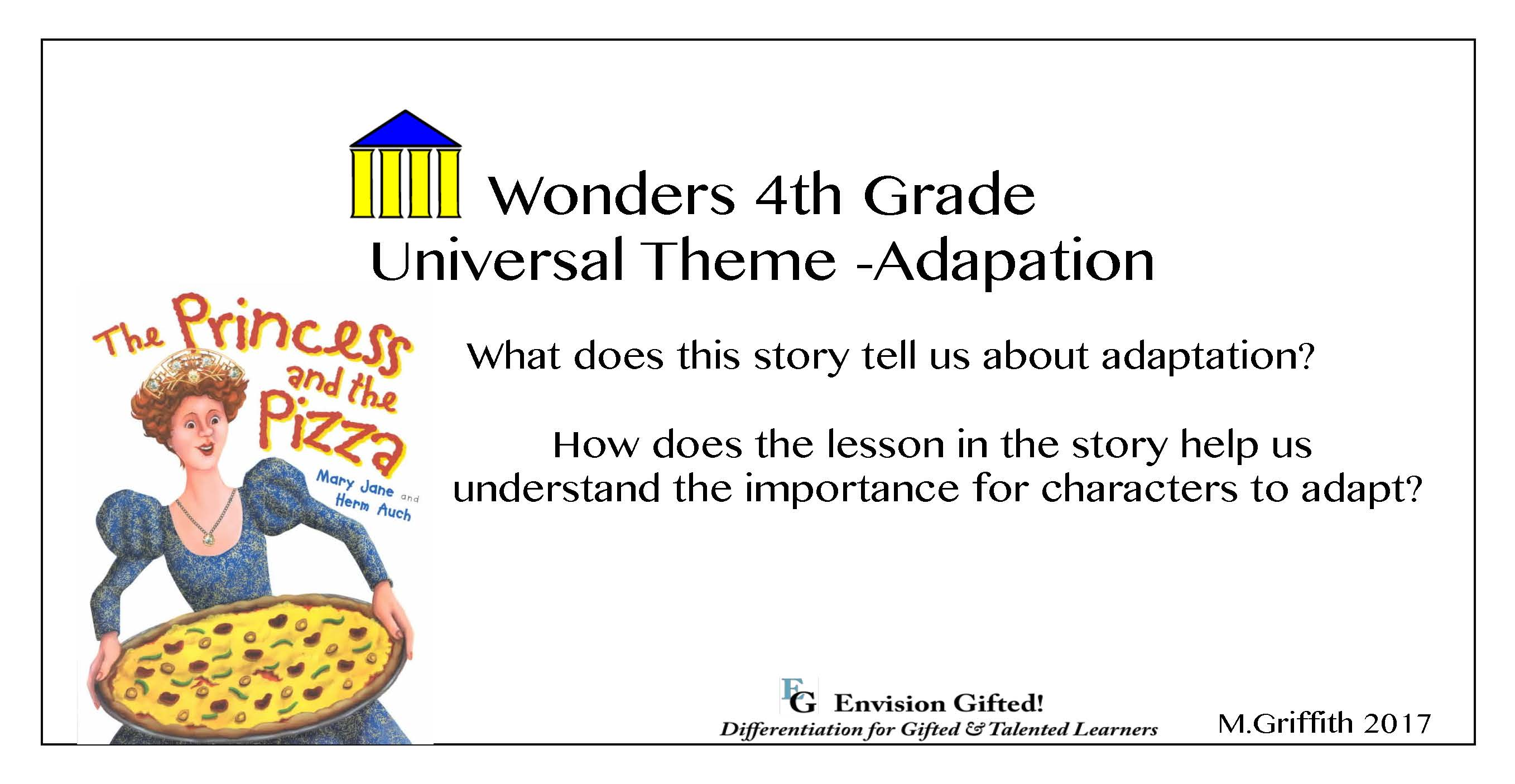 Envision Gifted. Universal Theme Adaptation. Wonders Grade 4. Pizza Princess