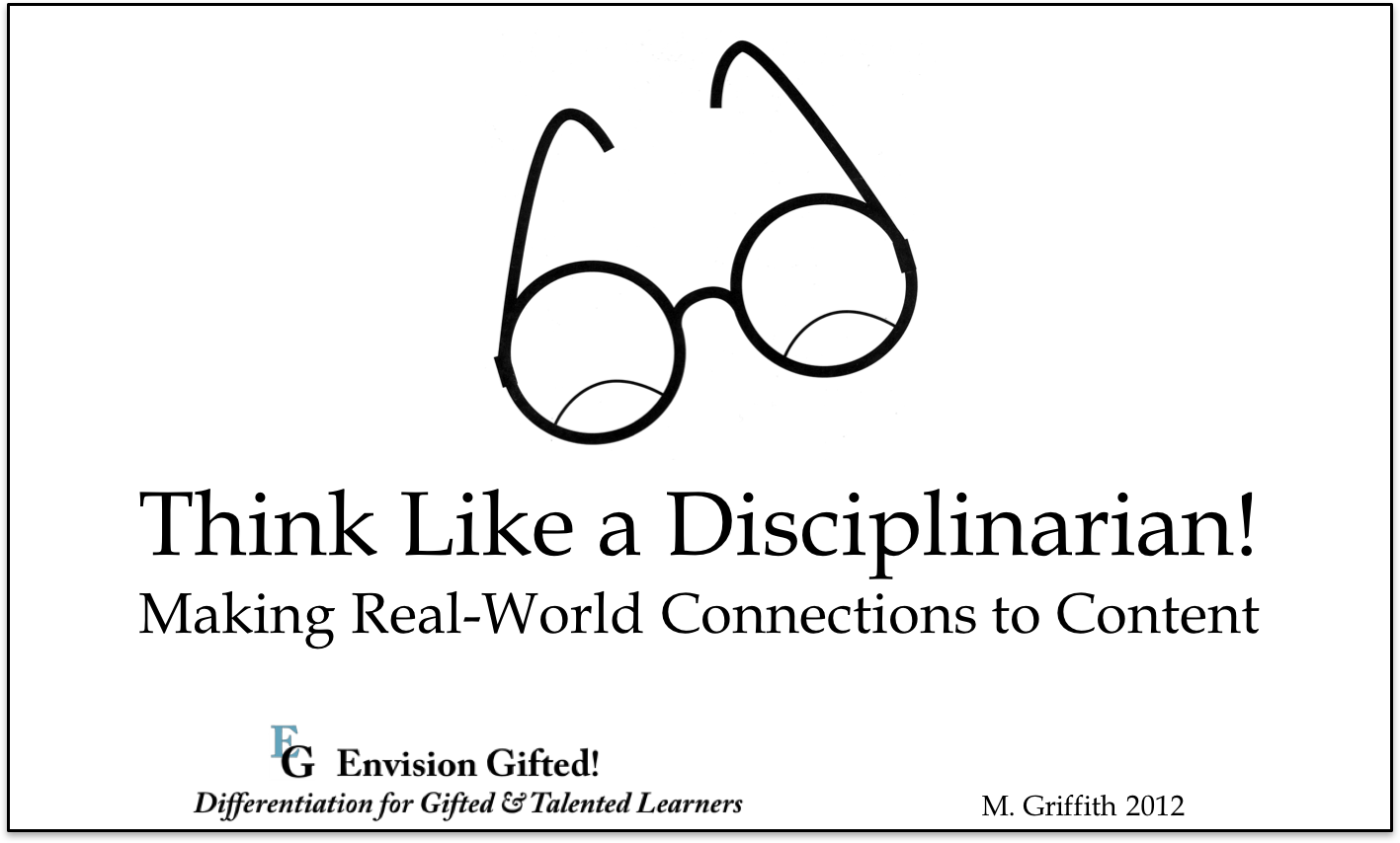 Envision Gifted. Think Like a Disciplinarian