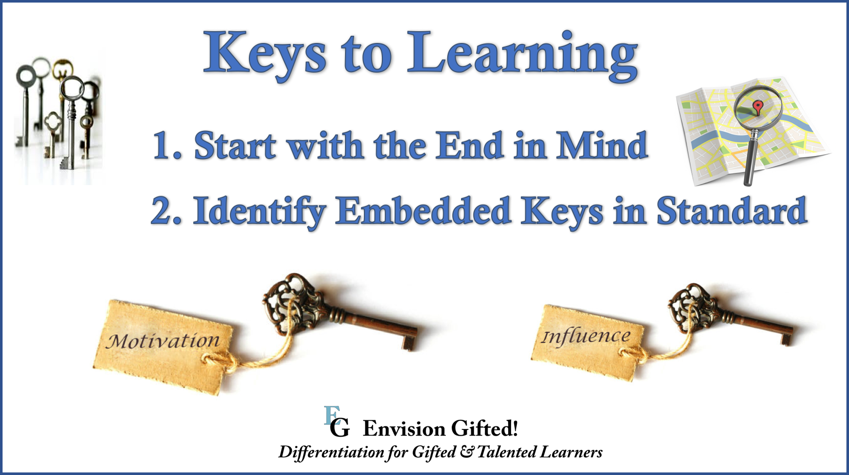 Envision Gifted. Keys Getting Started