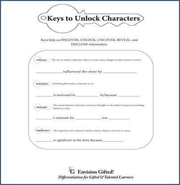 Envision Gifted. Keys to Unlock Characters1